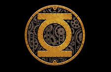 DC GREEN LANTERN STEAMPUNK SYMBOL Logo - Adult Licensed T-Shirt - S-3XL