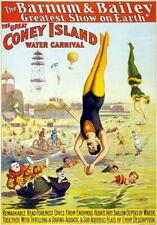 83839 Vintage Barnum Circus Coney Island Carnival Decor WALL PRINT POSTER CA
