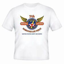 7TH ARMY AIR FORCE*UNITED STATES ARMY AIR CORPS*HAWAIIAN AIR FORCE* WINGS SHIRT