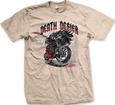 Death Defier Motorcycle Grim Reaper Angel Scythe Riding Bike Ride Men's T-Shirt