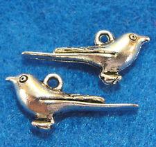 10Pcs. Tibetan Silver 3D BIRD Charms Pendants Earring Drops Jewelry Finding BD51