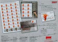 Rumänien 2007 Holocaust-Gedenktag,Polen,Judaica,Belzec Mi.6162,Bl.4,Zf.,KB,FDC