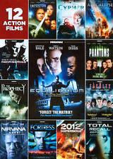 12 Action Films (DVD, 2012, 2-Disc Set) New