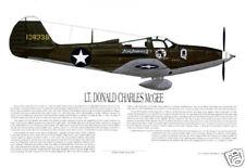 "Ernie Boyette Print ""P-39 Fighter Ace, Lt Donald McGee"""