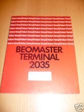 Operating Manual Bang&Olufsen Beomaster Terminal 2035