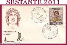 ITALIA FDC CAPITOLIUM 446 1981 BIMILLENARIO VIRGILIANO VIRGILIO ANN. MATERA F133