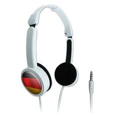 Novelty Travel On-Ear Headphones Soccer Futbol Football Country Flag A-I