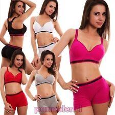 Conjunto de lencería mujer set deporte básico top bragas remero push up EN 303
