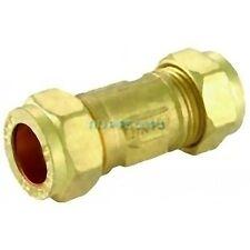 Brass Single Check Valve - 15mm, 22mm, 28mm - Compression non return Valve