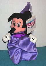 "Disney Store Exclusive Minnie Mouse Purple Princess 8"" Bean Bag Plush"