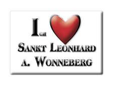 DEUTSCHLAND SOUVENIR - BAYERN MAGNET SANKT LEONHARD A. WONNEBERG (TRAUNSTEIN)