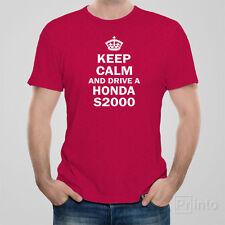 Funny men's unisex T-shirt KEEP CALM AND DRIVE HONDA S2000 jdm drift car Japan