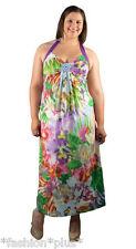Plus Size Dress Maxi Halter Floral Summer Print NWT 18 20 22