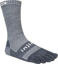 Injinji Outdoor Original Weight Crew Performance Toe Socks - Granite