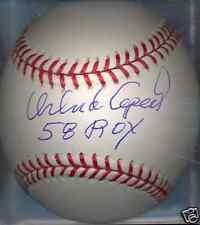 Orlando Cepeda San Francisco Giants 1958 NL ROY Autographed Signed Baseball COA