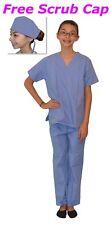 Kids Scrubs Ceil Blue REAL Childrens Doctor and Nurse Scrub Sets