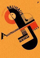 1923 Alemania Bauhaus de Weimar exposición de arte Ausstellung A3 Cartel re impresión