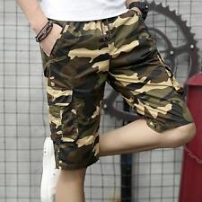 Fashion Mens Summer Casual Cotton Camo Cargo Shorts Combat Beach Shorts Pants