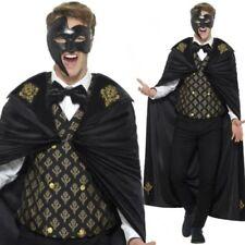 Uomo Scuro Fantasma Dell'Opera Masquerade Costume Vestito per Halloween M-XL