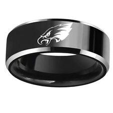 Philadelphia Eagles Football Team 316L Stainless Steel Men Ring Black Size 6-13