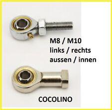 Kart spherical joint rotule spherique M8 / M10 inside outside steering tie rod