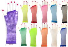 Ladies  Long Fishnet Gloves 1980s Fancy Dress Dance Free P&P UK