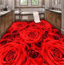 Love Flower 3D Floor Mural Photo Flooring Wallpaper Home Printing Decoration