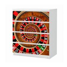 Set Möbelaufkleber für Ikea Kommode MALM 4 Fächer Roulette Spirale Folie 25B897