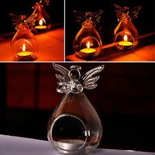 6/12/24/36pcs Angel Candlestick Glass Hanging Candle Tea Light Holder Home Decor