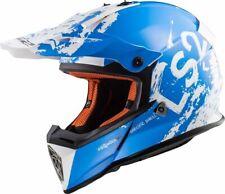 LS2 MX437 rápido Spot Motocross Enduro Off Road MX Quad ATV Casco-Blanco/Azul