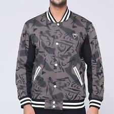 felpa uomo bomberino jacket college con bottoni camo interno felpato  invernale 33ba09d02796