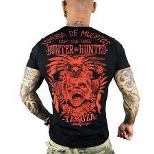 """schwarz Herren T-Shirt TSB 7016 /""""Psycho Therapy/"""" black YAKUZA"""