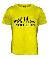 FLAT-COATED RETRIEVER EVOLUTION OF MAN MENS T-SHIRT TEE TOP DOG GIFT WALKER