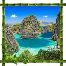 Sticker autocollant Cadre bambou Baie d'Halong 7205