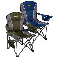 OZTRAIL TITAN D Chair (200kg Rating) Folding Portable Camping Picnic Arm