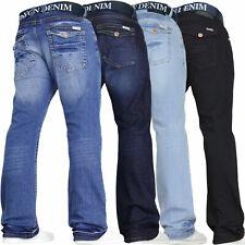 Mens Bootcut Flared Jeans Stretch Wide Leg Flared Work Casual Denim VON DENIM