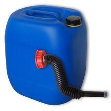 Bidon plastique 30 L Bleu DIN 61+1 Long Bec verseur flexible PEHD (22027+037)