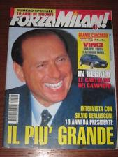 FORZA MILAN 1996/2 SILVIO BERLUSCONI IL PIU' GRANDE @@
