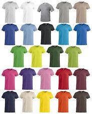 Maglietta maniche corte clique maglia basic-t 100% cotone 24colori unisex XS-4XL