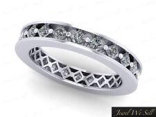 1.50Ct Princess Cut Diamond Angled Eternity Band Wedding Ring 950 Platinum G SI1