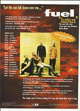 Fuel Sunburn Ultra Rare Trade Ad Poster for Sun Burn 1999 Cd Mint Condition