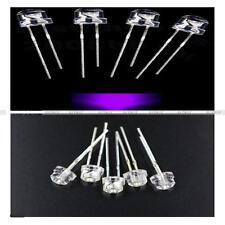 20/50/100PCS 5mm Straw Hat UV Purple Super-Bright LED Light Emitting Diode