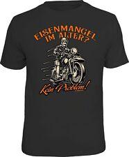 Biker T-Shirt - Eisenmangel im Alter ? - Motorrad Shirt Geburtstag Geschenk
