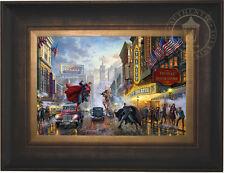 Thomas Kinkade DC BATMAN, SUPERMAN AND WONDER WOMAN 12 x 18 LE S/N Canvas Framed
