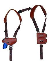 NEW Burgundy Leather Shoulder Holster w/Dbl Mag Pouch Colt, Browning Mini-Pocket
