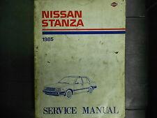 1985 Nissan Stanza Service Shop Repair Manual FACTORY DEALER SHIP OEM BOOK 85