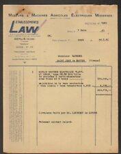 """SENLIS (60) MOTEUR & MACHINE AGRICOLE """"LAW"""" en 1951"""