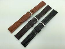 18mm 20mm 22mm MS834 Hadley Roma Alligator Grain Genuine Leather Watch Band