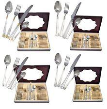 24pc Swiss Heavy Stainless Steel Cutlery Set Tableware Dining Utensils Boxed