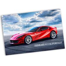 Red Ferrari 812 Superfast Design Poster  2 Sizes Available